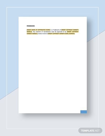 Copyright Notice Template Ad Ad Copyright Notice Template In 2020 Templates Word Doc Lettering