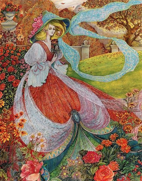 Pamela Colebourn/'s Colorful Fairy Summers Dream Counted Cross Stitch Pattern