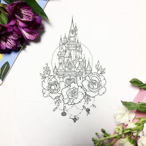 Disney Tattoo Vorlagen Disney Schloss Silhouette Diy Inspirationen Disney Tattoo Vorlagen Disney Tattoos Disney Tattoo