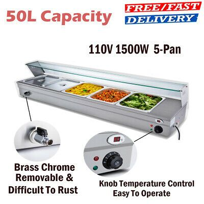 Ad Ebay Url 50l 5 Pan Steamer Bain Marie Buffet Countertop