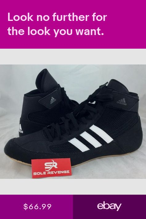 2021a7bab64 New ADIDAS HVC 2 Wrestling Shoes MMA Boxing Black White Gum AQ3325 ...