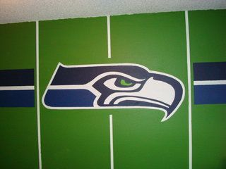 Seahawks Bedroom - wall - fathead? | Thatcher\'s new bedroom ...