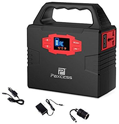 Amazon Com 100 Watt Portable Generator Power Station Cpap Battery Pack Home Camping Emergency Power Suppl Solar Power Diy Solar Panel System Power Generator