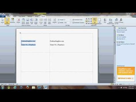 Great video showing how to create a numbered series of raffle - create raffle tickets in word