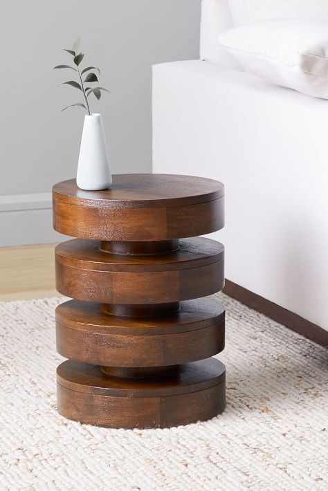 Floating Disks Side Table In 2020 Diy Side Table Side Table