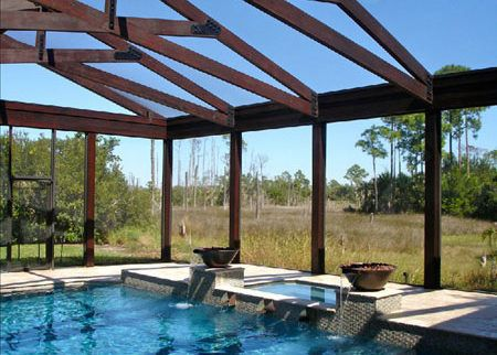 Custom Built Screened Pool Enclosures Houston Tx Screen Enclosure Pool Enclosures Pool Screen Enclosure Modern Pool House