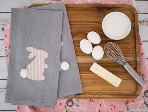 DIY Easter Kitchen Linens - Simple Simon and Company