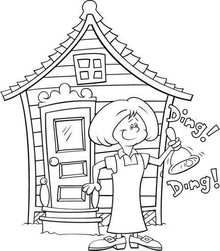 Dibujos Animados De Escuelas Para Colorear Imagui