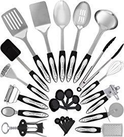 Stainless Steel Kitchen Utensils Set 25 Cooking Utensils