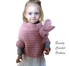 Bunny Poncho pattern by Beauty Crochet Pattern | Crochet