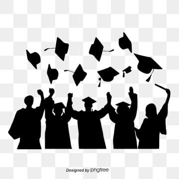 Silhouettes Of Graduation Caps Scattered By Students Silhouette Bachelor Cap Student Png Transparent Clipart Image And Psd File For Free Download Silhouette Illustration Graduation Cap Clipart Grey Wallpaper Background