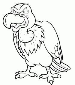 Akbaba Boyama Sayfasi Vulture Coloring Page Pagina Para Colorear De Buitre Stranica Raskraski Vulture Cizim Egitimleri Hayvan Cizimi Boyama Sayfalari