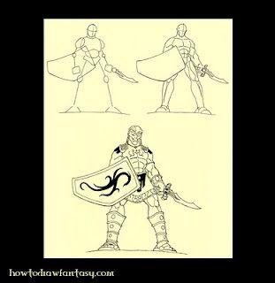 How to draw a Greek mythology hero