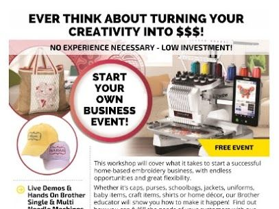 Start Your Own Embroidery Business Commercial Embroidery Machine Commercial Embroidery Business Events