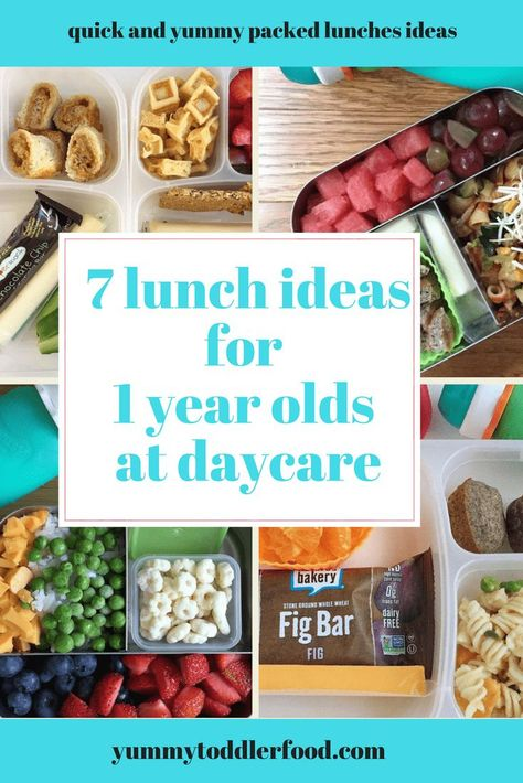 7 Lunch Box Ideas for 1 Year Olds Find new ideas for packing healthy toddler lunches for your one year old for daycare and preschool. The post 7 Lunch Box Ideas for 1 Year Olds appeared first on Toddlers ideas. Toddler Lunch Box, Healthy Toddler Lunches, Easy Toddler Meals, Toddler Snacks, Toddler Recipes, Healthy Food, Baby Lunch Box, Toddler Twins, 1 Year Old Snacks