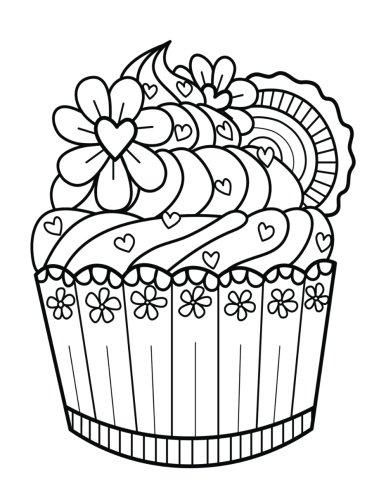 Blank Book Journal Cupcake Dessert Zentangle Cover Diary Notebook