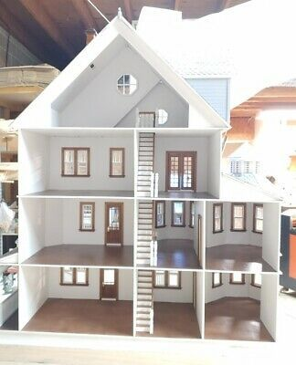 Ashley Gothic Victorian Generation 2 Dollhouse 1 12 Scale Kit Ebay Wooden Dollhouse Kits Doll House Plans Dollhouse Kits
