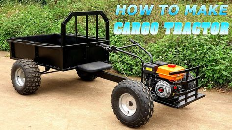 Tractors 565553665710274704 - Build a Cargo Tractor Source by Metal Projects, Welding Projects, Fun Projects, Corvette Cabrio, Chevrolet Corvette, Chevrolet Silverado, Ferrari 348, Porsche 356, Diy Go Kart
