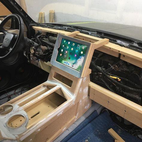 Custom Car Interior, Car Interior Design, Truck Interior, Car Interior Upholstery, Automotive Upholstery, Custom Car Audio, Custom Cars, Jeep Wrangler Accessories, Truck Accessories