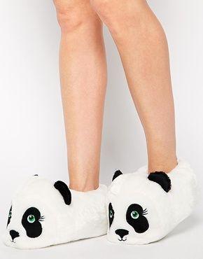 New Look Nanda Panda Slipper Boots | Panda