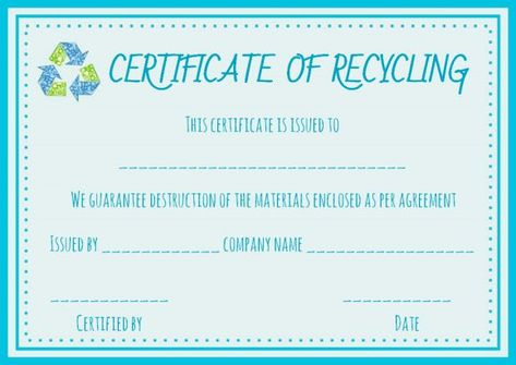 Certificate Of Destruction Hard Drive Template  Certificate Of