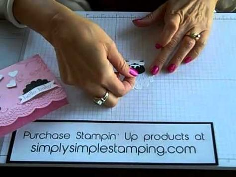 Simply Simple FLASH CARD Punch Art Little Lamb by Connie Stewart