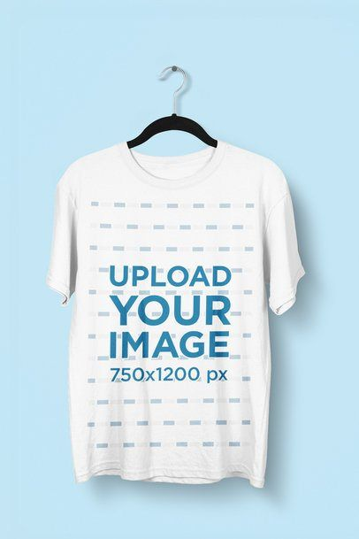 Download Placeit Mockup Of A Hanging T Shirt Featuring A Customizable Background Mockup Generator Tshirt Mockup Shirt Mockup
