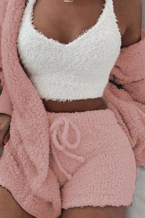 Fluffy Hooded Open Front Teddy Coat & Short Sets Fluffy Hooded Open Front Teddy Coat & Short Sets The post Fluffy Hooded Open Front Teddy Coat & Short Sets appeared first on Kleidung ideen.