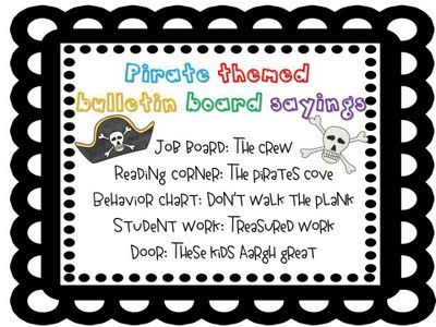 Pirate themed bulletin board ideas  to The Letter on the Bus & Sight Word song