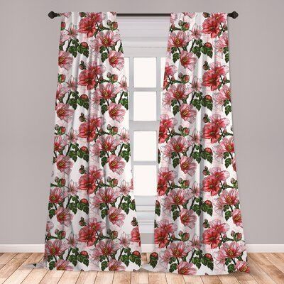 30 Stunning Bedroom Decoration Ideas With Flower Curtain To Try Right Now Floral Room Flower Curtain Flower Window