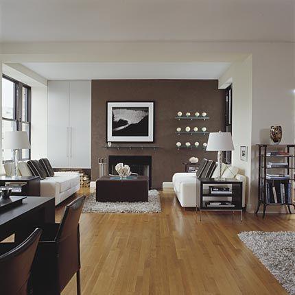 Salon Mur Blanc Et Taupe