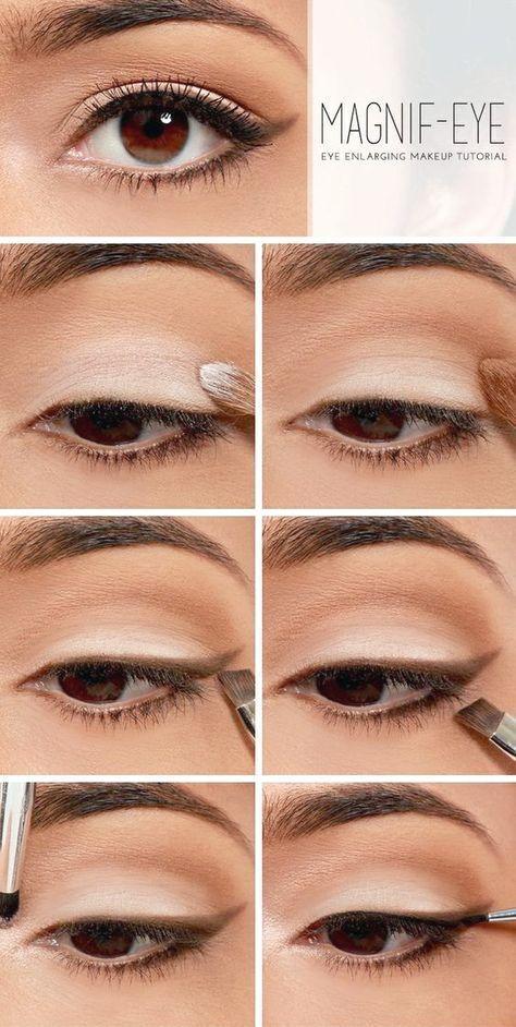 Es Hora De Hacer Un Truco De Belleza Moda Española Eye Enlarging Makeup Eye Makeup Tutorial Best Makeup Tutorials