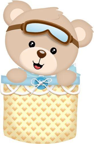 kit displays 8 peças ursinho baloeiro. mdf envio 48hs