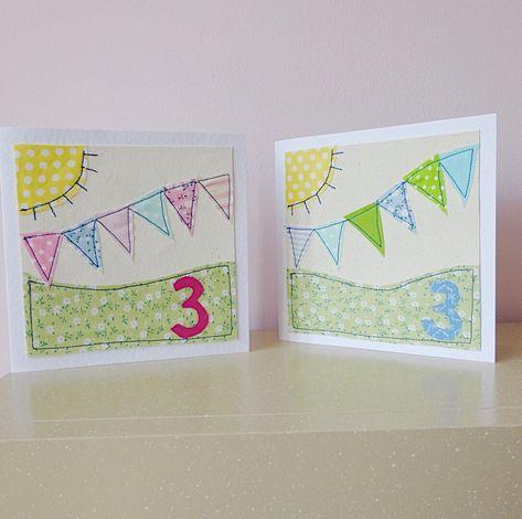 Boy 3rd Birthday Card Girl 3 Today Childrens Birthday Card