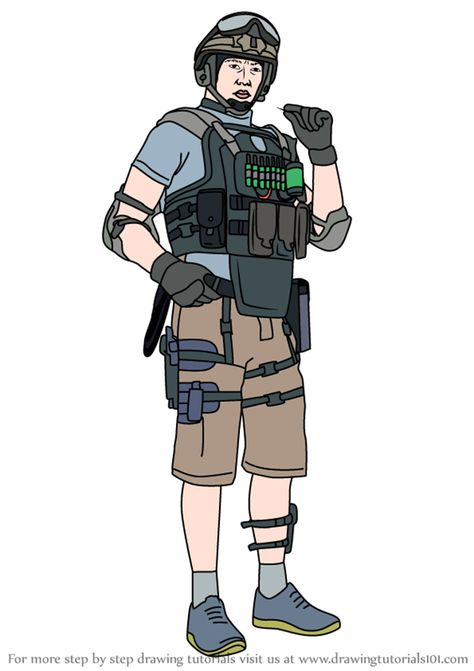 How To Draw Lesion From Rainbow Six Siege Drawings Rainbow