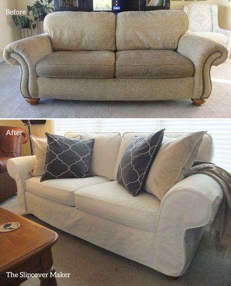Remarkable Slipcover Makeover For Flexsteel Furniture Slipcovers Andrewgaddart Wooden Chair Designs For Living Room Andrewgaddartcom