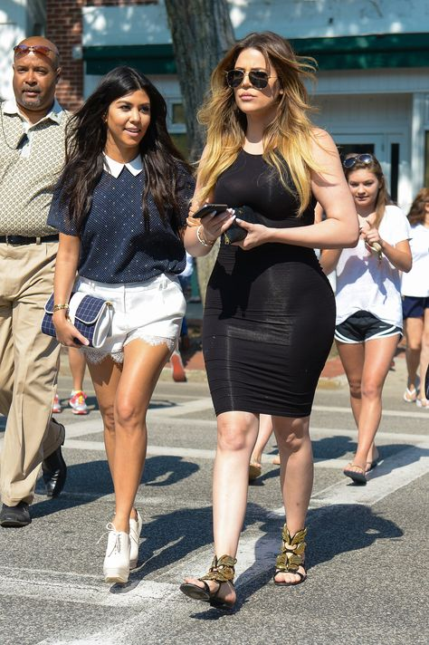 Kourtney, Khloe Kardashian Take the Hamptons: Pictures, Details - Us Weekly