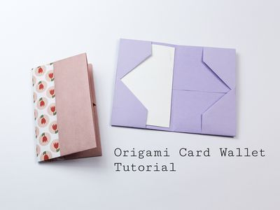 Easy Traditional Origami Letter Fold Origami Cards Origami Wallet Origami Letter
