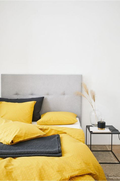 Dotted Duvet Cover Set Mustard Yellow White Dotted Home All H M Us Yellow Bedding Duvet Covers Yellow Duvet Cover Sets