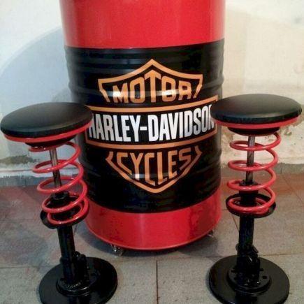 38 Fantastic Diy Gallon Drum Design Ideas 16 Garage Furniture Barrel Furniture Car Part Furniture