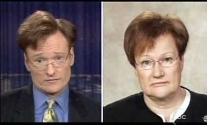 Tarja Halonen and Conan O'Brien.  They look a little similar, right?  #EUtah #byuinternational #Finland