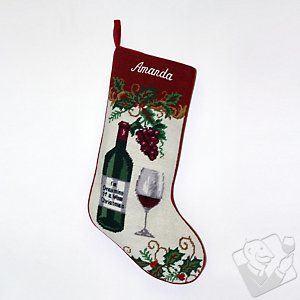 Personalized Wine Christmas Stocking at Wine Enthusiast - $29.99 ...
