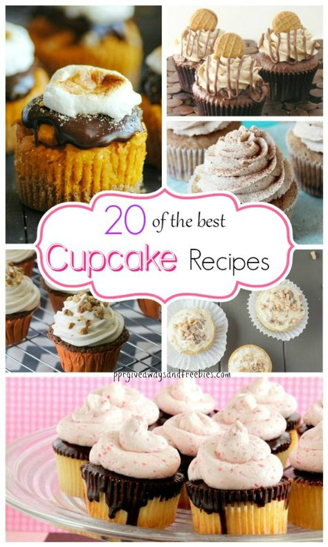 20 of the best cupcake recipes will make a cupcake lover out of you. Try some or all of them to find out which is your favorite.