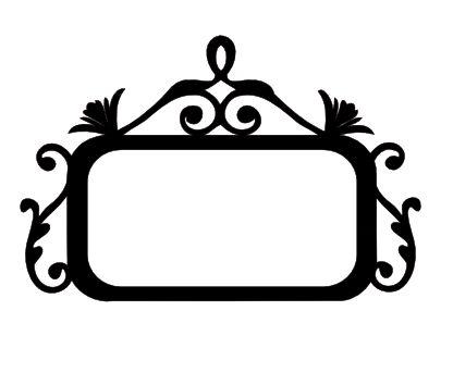 Swirl Flourish Name Plate Silhouette Stencil Silhouette Cameo Freebies Silhouette Curio