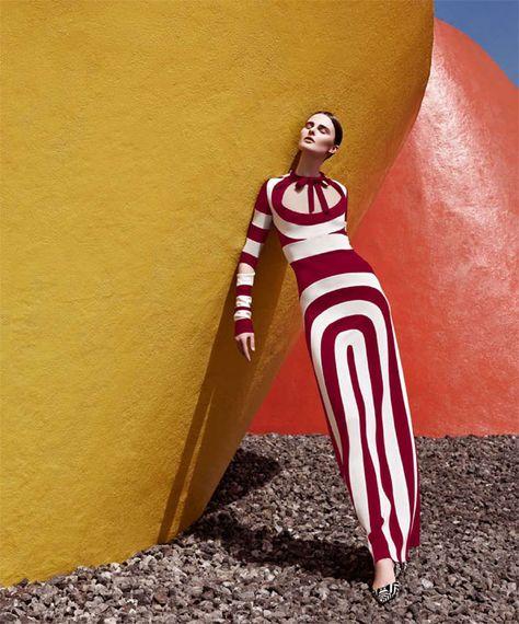 Vasilisa Pavlova Models Sleek Spring Style for Harpers Bazaar Latin America