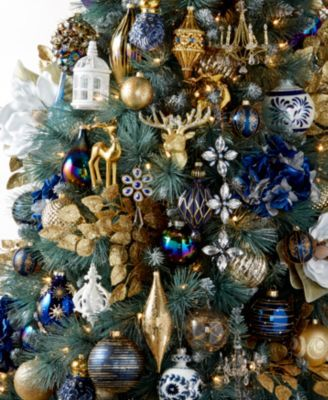 Holiday Lane Midnight Blue Collection Created For Macy S Reviews Christmas Ornaments Home Macy S Blue Christmas Tree Decorations Christmas Tree Inspiration Christmas Tree Themes