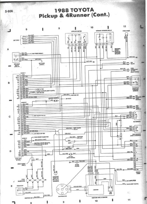 1988 toyota pickup wiring diagram pin on truck  pin on truck