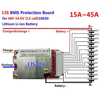 Ad Ebay Link 48v 54 6vprotection Bms Pcb 13s Li Ion Li Polymer Battery 15 45a Replacements In 2020 Charger Accessories Battery Charger Powered Subwoofer