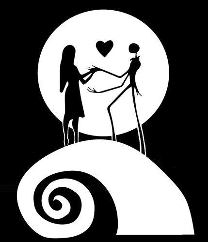 Jack And Sally White Vinyl Car Wall Decal Nightmare Before Christmas  Awesome Fun Cool Pumpkin King Jack Skellington * Be Sure To Check Out This  Awesome ...