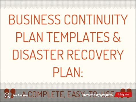 Infographic Business Continuity Plan Templates business corner - continuity plan template